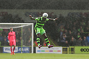 Forest Green Rovers Drissa Traoré(4) heads the ball during the EFL Sky Bet League 2 match between Forest Green Rovers and Exeter City at the New Lawn, Forest Green, United Kingdom on 9 September 2017. Photo by Shane Healey.