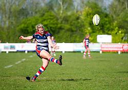 Amber Reed of Bristol Ladies converts - Mandatory by-line: Paul Knight/JMP - 09/04/2017 - RUGBY - Cleve RFC - Bristol, England - Bristol Ladies v Saracens Women - RFU Women's Premiership Play-off Semi-Final