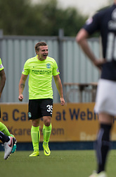 Hibernian's Jason Cummings celebrates after scoring their goal. half time : Falkirk 1 v 1 Hibernian, the first Scottish Championship game of season 2016/17, played 6/8/2016 at The Falkirk Stadium.