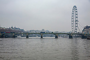 A view of Westminster bridge from the river Thames on a grey winters day. Westminster, London.  Built in 1862 it connects Westminster to Lambeth.  (photo by Andrew Aitchison / In pictures via Getty Images)