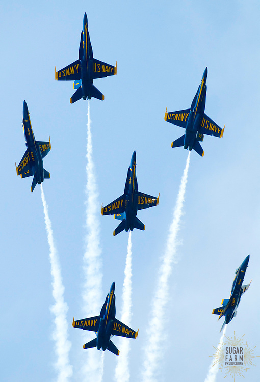 5/22/07:Blue Angles 2007 (day one)-shot from USNA..Photo by Alison Harbaugh.