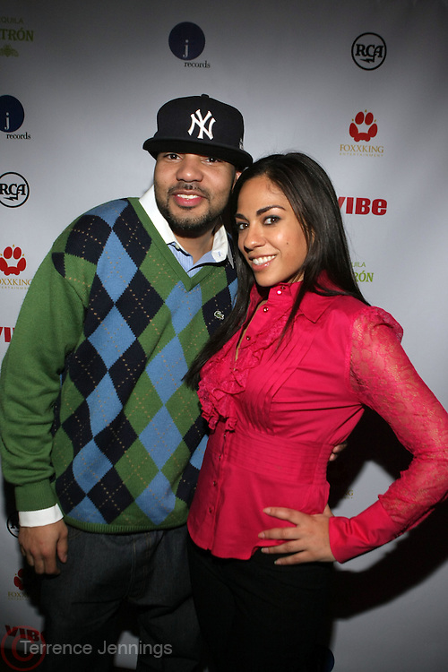 l to r: DJ Envy and Sharon Carpenter at The Jamie Foxx's Album Release Party for Intuition, Sponsored by Vibe Magazine & Patron Tequila held at Home on December 17, 2008 in New York City..