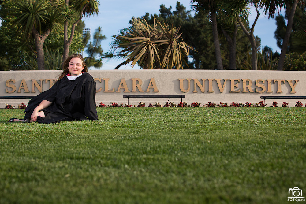 Effie Perivoliotis poses for a portrait during her Senior Portrait Session at Santa Clara University in Santa Clara, California, on May 15, 2014. (Stan Olszewski/SOSKIphoto)