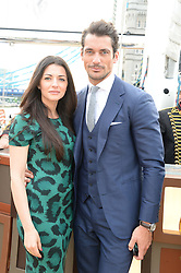 The Johnnie Walker Blue Label and David Gandy Drinks Reception aboard John Walker & Sons Voyager, St.Georges Stairs Tier, Butler's Wharf Pier, London, UK on 16th July 2013.<br /> Picture Shows:-Natalia Barbieri and David Gandy.