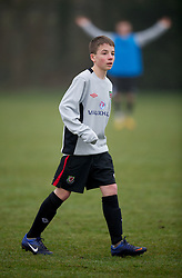 CARDIFF, WALES - Thursday, March 15, 2012: Wales U16's Tom Lowrey (Crewe Alexander FC & Holmes Chapel Comprehensive) during a training session at the Glamorgan Sports Park. (Pic by David Rawcliffe/Propaganda)