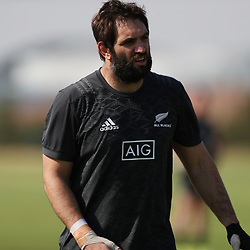 PRETORIA, SOUTH AFRICA - OCTOBER 05: Sam Whitelock of the New Zealand (All Blacks) during the Rugby Championship New Zealand All Blacks captain's run at St David's Marist Inanda 36 Rivonia Rd, Sandown, Sandton,on October 5, 2018 in Pretoria, South Africa. (Photo by Steve Haag/Getty Images)