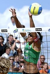 27-08-2006: VOLLEYBAL: NESTEA EUROPEAN CHAMPIONSHIP BEACHVOLLEYBALL: SCHEVENINGEN<br /> Nila Hakedal (NOR)<br /> &copy;2006-WWW.FOTOHOOGENDOORN.NL