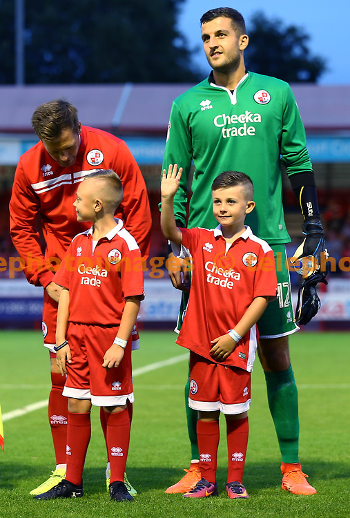 Mascots lineup during the Checkatrade Trophy match between Crawley Town and Charlton Athletic at the Checkatrade Stadium in Crawley. 29 Aug 2017