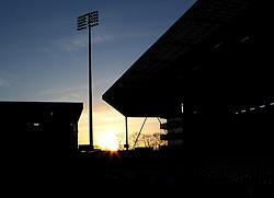 The Sun sets over Craven Cottage - Photo mandatory by-line: Robbie Stephenson/JMP - Mobile: 07966 386802 - 06/03/2015 - SPORT - Football - Fulham - Craven Cottage - Fulham v AFC Bournemouth - Sky Bet Championship