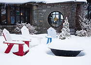 Winter scenes in the Blue Ridge Mountains of Appalachia near Blowing Rock NC