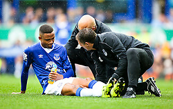Everton's Brendan Galloway receives treatment before leaving the pitch with an injury - Mandatory byline: Matt McNulty/JMP - 07966386802 - 23/08/2015 - FOOTBALL - Goodison Park -Everton,England - Everton v Manchester City - Barclays Premier League