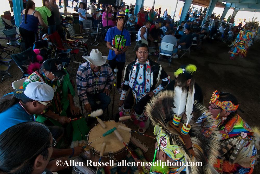 Powwow Drum, Milk River Indian Days Pow Wow, Fort Belknap Indian Reservation, Montana.
