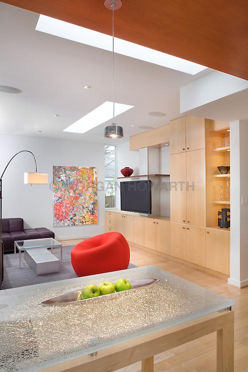 Ben Ames Architect Catherine Hailey interior designer Family room TV room