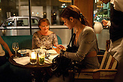 EMMA FARROW, Leaving dinner for Kate Phelan given by Alex Shulman and Mary Homer. Riding House Cafe. Great Titchfield st. London. 20 September 2011. <br /> <br />  , -DO NOT ARCHIVE-© Copyright Photograph by Dafydd Jones. 248 Clapham Rd. London SW9 0PZ. Tel 0207 820 0771. www.dafjones.com.