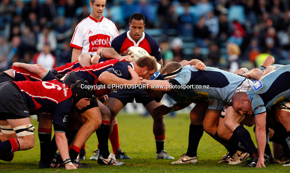 The scrums pack down.<br />