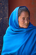A hindu woman at the Thursday market of Patan, near Kathmandu, Nepal.