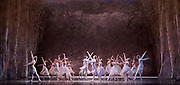 The Nutcracker <br /> choreography by Sir Peter Wright <br /> at the <br /> Birmingham Royal Ballet <br /> Birmingham Hippodrome, Great Britain <br /> 24th November 2017 <br /> <br /> Snowflakes and Winds <br /> <br /> Photograph by Elliott Franks <br /> Image licensed to Elliott Franks Photography Services