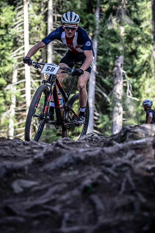 Paul Fabian (USA) during the Team Relay  at the 2018 UCI MTB World Championships - Lenzerheide, Switzerland