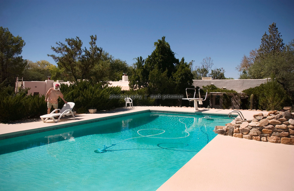 Part of Dr. Weil's daily routine involves swimming each morning at his ranch south of Tucson, Arizona.