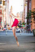 Streets of New York City Dance As Art Photography Project in Tribeca featuring dancer Erika Citrin