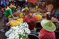 Myanmar (ex Birmanie), Province de Karen, Hpa-an, le marche // Myanmar (Burma), Karen state, Hpa-an, market