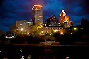 Stormy Night View of Providence, Rhode Island from Across the River