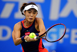 WUHAN, Sept. 28, 2018  Wang Qiang of China returns a shot during the singles semifinal match against Anett Kontaveit of Estonia at the 2018 WTA Wuhan Open tennis tournament in Wuhan, central China's Hubei Province, on Sept. 28, 2018. Anett Kontaveit advanced to the final after Wang Qiang withdrew due to injury. (Credit Image: © Song Zhenping/Xinhua via ZUMA Wire)