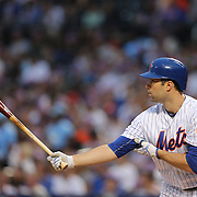 NEW YORK, NEW YORK - July 09: Neil Walker #20 of the New York Mets batting during the Washington Nationals Vs New York Mets regular season MLB game at Citi Field on July 09, 2016 in New York City. (Photo by Tim Clayton/Corbis via Getty Images)
