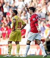 Photo: Paul Thomas.<br /> Watford v Manchester United. The FA Cup, Semi Final. 14/04/2007.<br /> <br /> Cristiano Ronaldo and Man Utd celebrate his goal.