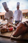 Restaurant  El Parador de Moray, Inca terraces of Moray,  Cusco Region, Urubamba Province, Machupicchu District, Peru