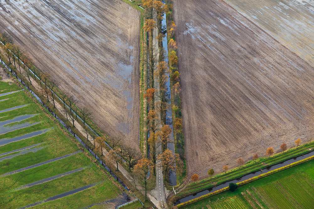 Nederland, Noord-Brabant, Helmond, 15-11-2010; verkaveling in de Peel.Land division in the South-East of the Netherlands..luchtfoto (toeslag), aerial photo (additional fee required).foto/photo Siebe Swart