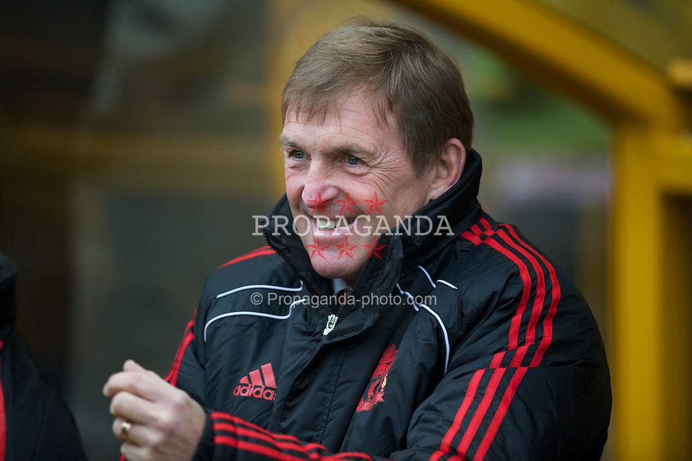 WOLVERHAMPTON, ENGLAND - Saturday, January 22, 2011: Liverpool's manager Kenny Dalglish before the Premiership match against Wolverhampton Wanderers at Molineux. (Photo by David Rawcliffe/Propaganda)