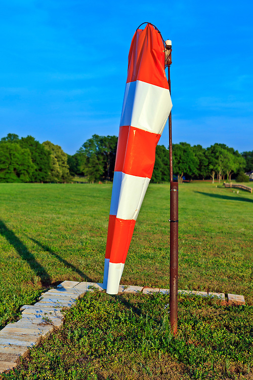 Windsock at Peachstate Aerodrome in Williamson, Georgia.