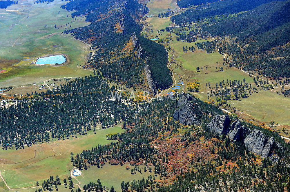 aerial of Stonewall, CO