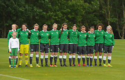 The Republic of Ireland team that lined out against Denmark during the Uefa U16 fixture as part of the development tournament played in Mayo.<br /> Pic Conor McKeown