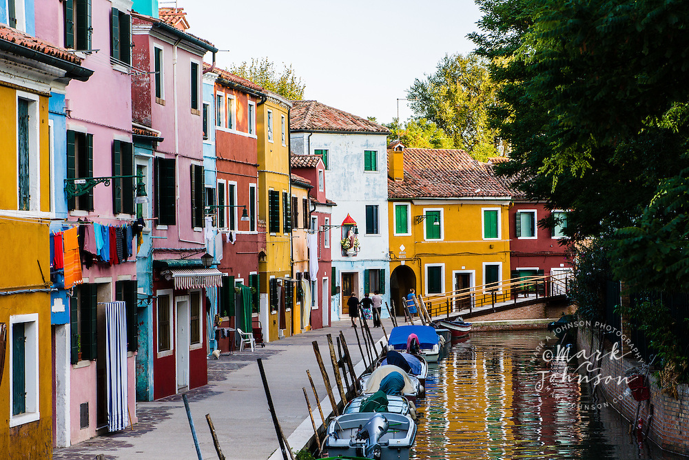The picturesque village and canals of Burano, Venice, Italy, Europe