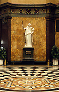 Deutschland Germany Hessen.Hessen, Wiesbaden.Kurhaus, Statue in der Halle., Spa House, statue in the hall...