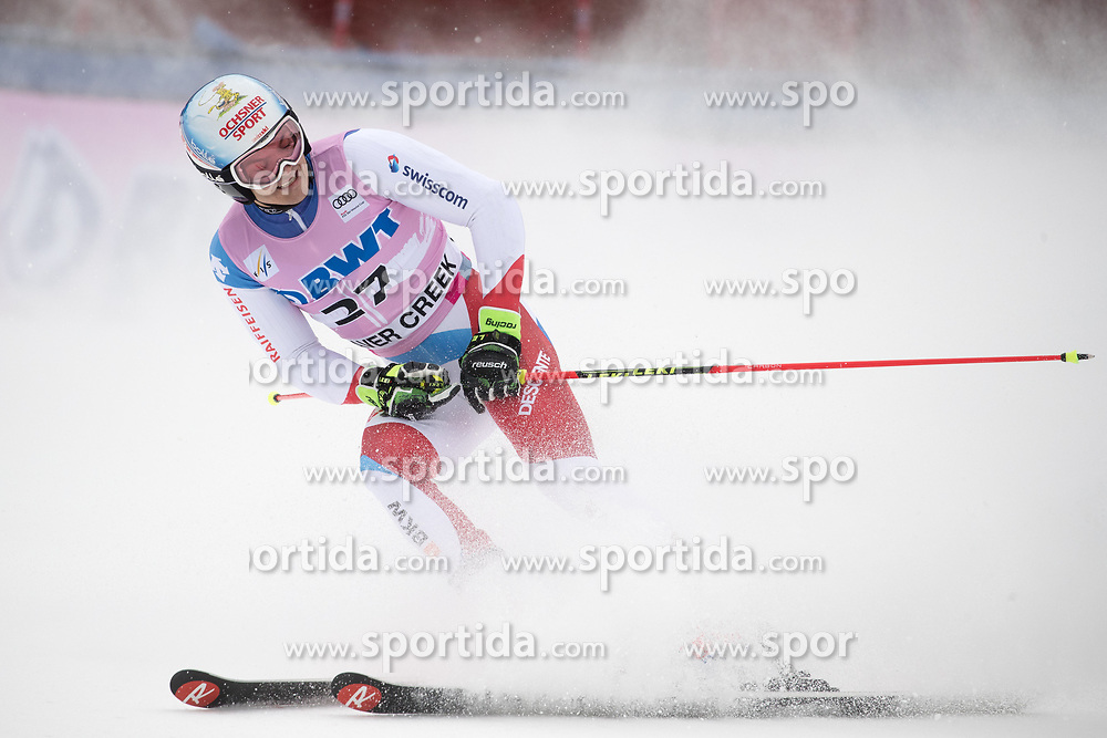 03.12.2017, Beaver Creek, USA, FIS Weltcup Ski Alpin, Beaver Creek, Riesenslalom, Herren, 2. Lauf, im Bild Loic Meillard (SUI) // Loic Meillard of Switzerland reacts after his 2nd run of men's Giant Slalom of FIS ski alpine world cup in Beaver Creek, United Staates on 2017/12/03. EXPA Pictures © 2017, PhotoCredit: EXPA/ Johann Groder