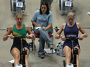 2005 British Indoor Rowing Championships, Sarah Winckless [left] and Frances Houghton, National Indoor Arena, Birmingham, ENGLAND,    20.11.2005   © Peter Spurrier/Intersport Images - email images@intersport-images..[Mandatory Credit Peter Spurrier/ Intersport Images]
