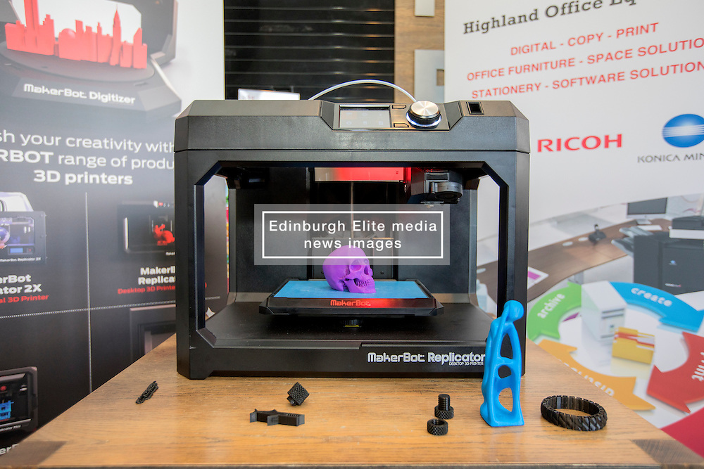 #hellodigital Extra 2017 event, held at Eden Court in Inverness.<br /> <br /> Pictured:a 3D printer finishing printing a model<br /> <br /> Malcolm McCurrach   EEm   Mon, 20, February, 2017