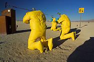"BLACK ROCK CITY, NV:  A art piece titled ""Hellfire Weenie Roast"" by Todd Kurtzman and Ben Pinkowitz in Black Rock City, Nevada."