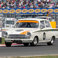 #68, Ford Lotus Cortina (1965), Michael Steele (GB) and Roger Buxton (GB), Silverstone Classic 2015, Warwick Banks Trophy for Under 2 Litre Touring Cars (U2TC). 25.07.2015. Silverstone, England, U.K.  Silverstone Classic 2015.