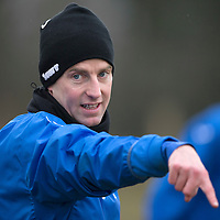 St Johnstone Training....13.02.15<br /> Steven MacLean pictured during training this morning at McDiarmid Park ahead of tomorrow's game against Celtic<br /> Picture by Graeme Hart.<br /> Copyright Perthshire Picture Agency<br /> Tel: 01738 623350  Mobile: 07990 594431