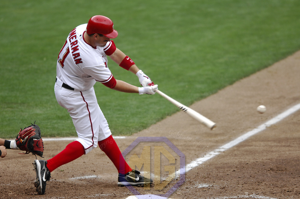 17 May 2006:  Washington Nationals third baseman Ryan Zimmerman (11) in action against the Atlanta Braves. The Nationals defeated the Braves 4-3 at RFK Stadium in Washington, D.C.