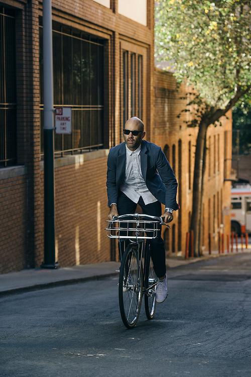 Vaughn Brown, founder of Parker Dusseau apparel, San Francisco   Bicycling Magazine