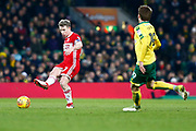Middlesbrough midfielder Grant Leadbitter (7)  plays a pass during the EFL Sky Bet Championship match between Norwich City and Middlesbrough at Carrow Road, Norwich, England on 3 February 2018. Picture by Phil Chaplin.