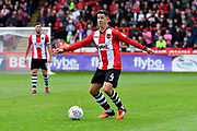Lloyd James (4) of Exeter City on the attack during the EFL Sky Bet League 2 match between Exeter City and Crewe Alexandra at St James' Park, Exeter, England on 16 September 2017. Photo by Graham Hunt.