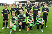 FGR ambassadors during the EFL Sky Bet League 2 match between Forest Green Rovers and Crawley Town at the New Lawn, Forest Green, United Kingdom on 22 September 2018.