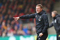 Football - 2019 / 2020 Premier League - AFC Bournemouth vs. Manchester United<br /> <br /> Bournemouth's Manager Eddie Howe is all smiles as his side win at the Vitality Stadium (Dean Court) Bournemouth <br /> <br /> COLORSPORT/SHAUN BOGGUST