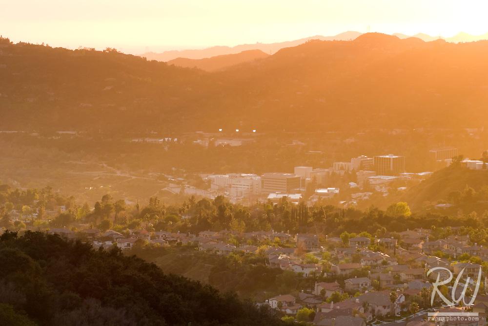 Jet Propulsion Laboratory (JPL) at Sunset, Pasadena, California